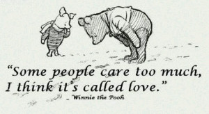 Love me some Pooh Bear quotes!