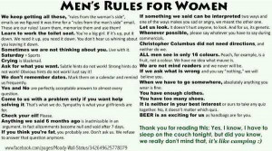 Found this lovely set of rules on facebook