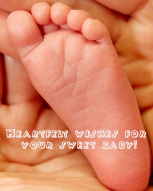 Beautiful photo card for birth of a child with wording: heartfelt ...