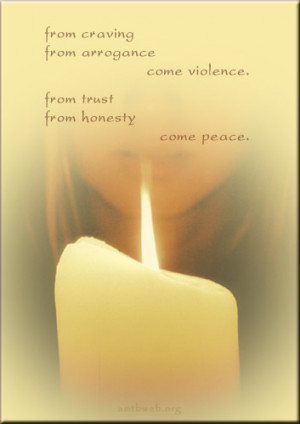 violence quotes, peace quotes, from arrogance