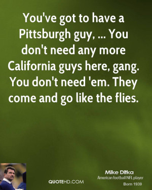 guy, ... You don't need any more California guys here, gang. You don ...