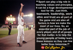 Sport can play a big role in teaching values and principles. It can ...