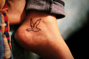 home tattoos on feet adorable small bird tattoo on feet