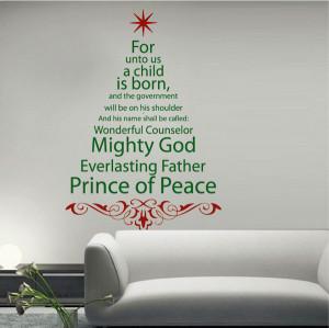Spiritual Christmas Tree Wall Quote