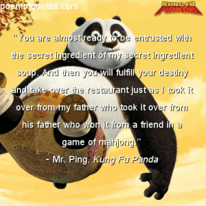 Funny Quotes From Kung Fu Panda