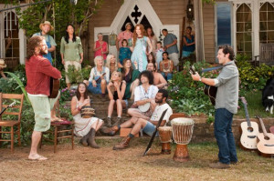 ... of Kerri Kenney, Paul Rudd and Justin Theroux in Wanderlust (2012