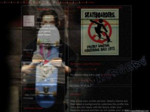 Bam Margera Wallpaper - Skateboard MySpace Layout Preview