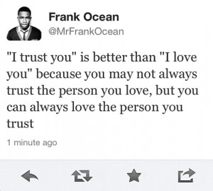 ... You Love, But You Can Always Love The Person You Trust ~ Love Quote