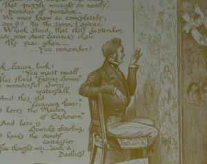 Love Kiss Victorian Poem Henry Austin Dobson Romance Sepia