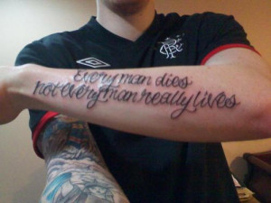 every man dies not every man really lives