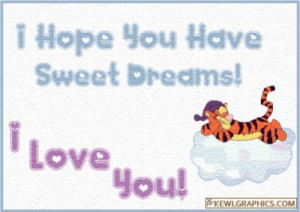 Hope you have sweet dreams Love you Facebook Graphic