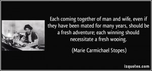 Each coming together of man and wife, even if they have been mated for ...
