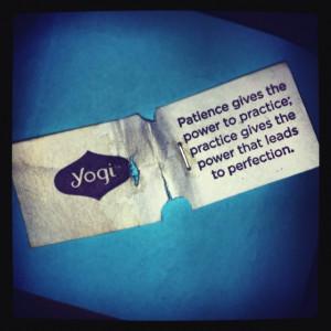 Yogi tea has the best quotes
