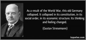 More Gustav Stresemann Quotes