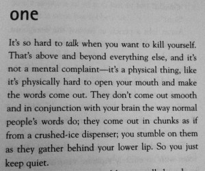quote Black and White depressed suicidal suicide book it's kind of a ...