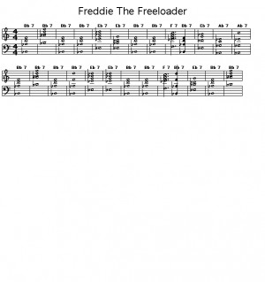 Freddie The Freeloader: Gif rendering of the chord progression for ...