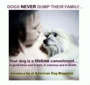 Dogs Never Dump Their Family