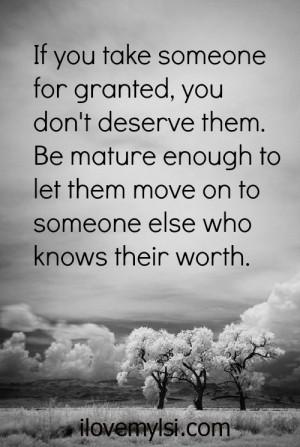 Taken for granted.