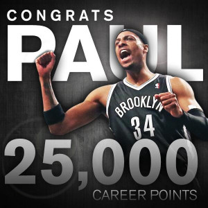 Paul Pierce Hits 25000 Career Points