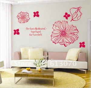 ... quot Our love is like the wind quot wall sticker quote stickers decals