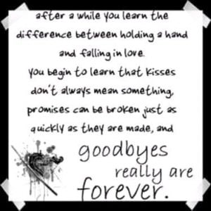 Goodbyes really are Forever ~ Goodbye Quote