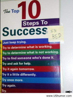 10 steps to success US Humor - Funny pictures, Quotes, Pics, Photos ...