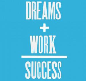 Dreams + work = success