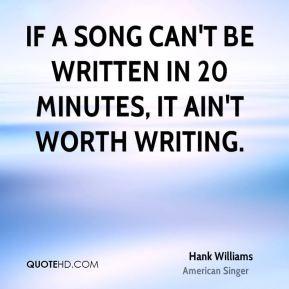 More Hank Williams Quotes