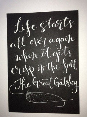 The Great Gatsby quote on 5 x 7 inch card stock by InkandPenShop, $14 ...