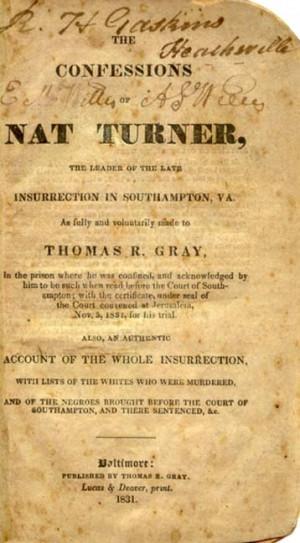 OF NAT TURNER,