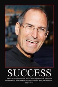 ... STEVE JOBS MOTIVATIONAL POSTER 24X36 success & perseverance quote NEW