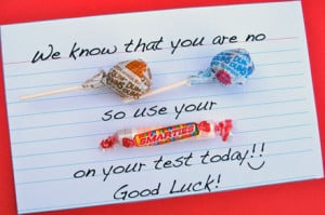 dum so use your smarties on your test good luck