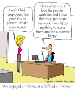 Employee Engagement Leads to Working Harder and Caring More