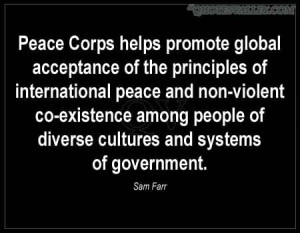 Peace Corps Helps Promote Global Acceptance Of The Principles