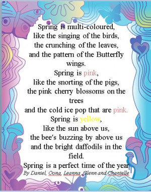 Spring Poems Spring poems