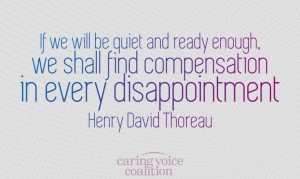 Dealing with disappointment #disappointment #HenryDavidThoreau #quotes