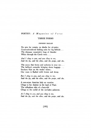 Ballad Poem About Love Pension ballad