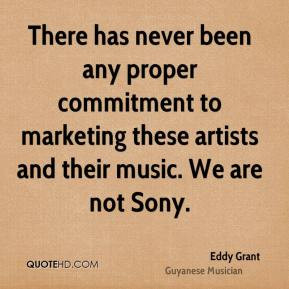 Eddy Grant - There has never been any proper commitment to marketing ...