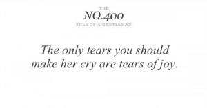 ... Only Tears You Should Make her Cry are tears of Joy ~ Astrology Quote