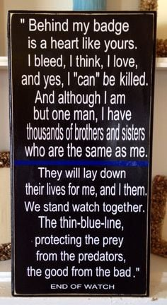 Thin Blue Line wall hanging