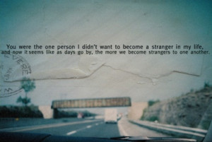 drifting apart #chance #change #moving on #growing up #things are ...