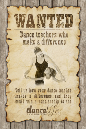 Dance Teacher Thank You Quotes