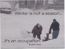 ... Winter Snow Scene with Sinclair Lewis Quote Modern Postcard M63