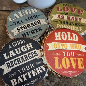 Home > New! > Retro-Funny-Sayings-Bottle-Cap-Coasters-Set-of-4
