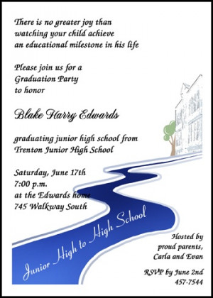 junior high path to high school with creative and unique graduation ...