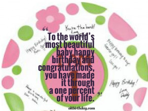 Happy 1st Birthday Baby Girl Quotes
