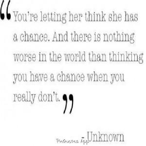 False hope..:-/