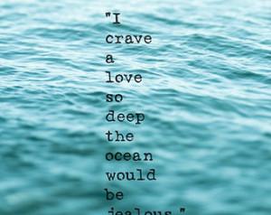 Beach Ocean Quote Sea Coastal Art Love Ocean Blue Teal Aqua Shabby ...