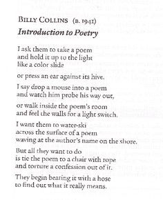 poems quotes billy collins poetry quotes poems words poems intro to ...
