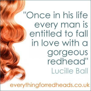 lucille ball redhead quotes | Lucille Ball and Jennifer Blair- my two ...